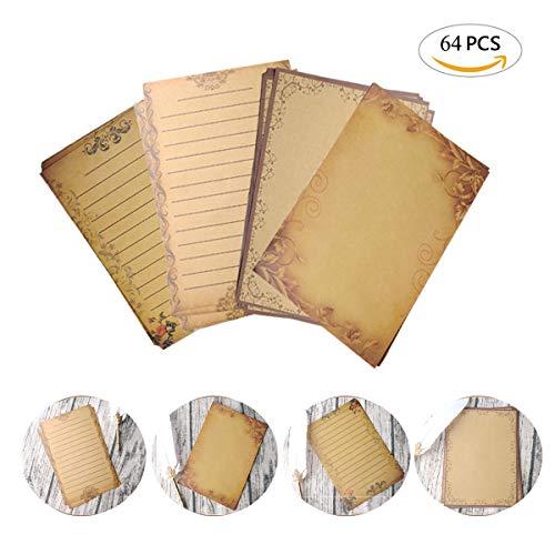 Mengger papel de escribir papelería Vintage escritura Cartas 64 Hojas setescribir Impresos Invitaciones Tarjetas Regalo Fiesta Boda Cumpleaños papel