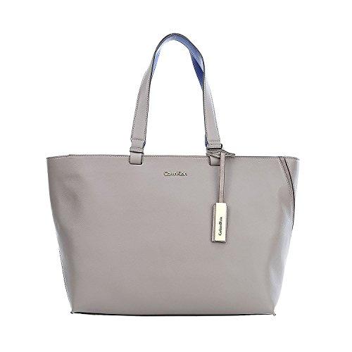 Calvin Klein Julia Shopper Borsa tote pelle 41 cm hellbraun, braun