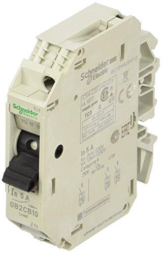 Schneider Electric GB2CB10 Tesys Gb2, Disyuntor Magnetotérmico, 1P, 5 A, Id = 66 A