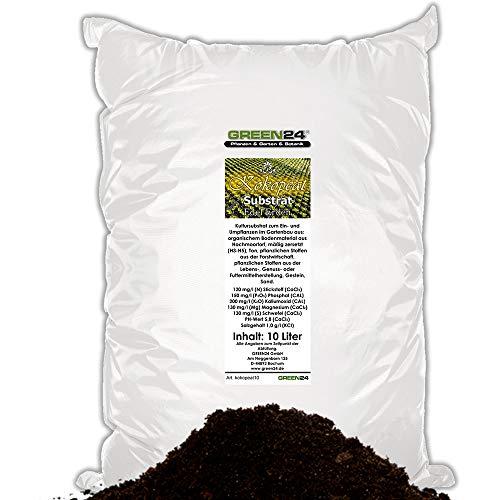 GREEN24 Kokos-Anzuchterde Premium für Tropische und subtropische Pflanzen, Erde zur Aussaat 10 Ltr. - Profi Linie Substrat mit Kokopeat Kokosfaser Kokoserde