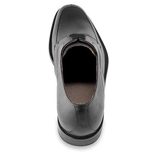 Masaltos - Chaussures rehaussantes pour homme. Jusqu'à 7 cm plus grand! Modèle Tamigi Noir
