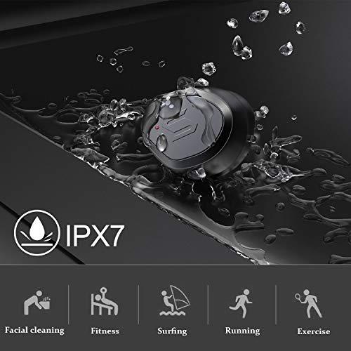 Wslhcsure Bluetooth Kopfhörer Kabellos V5.0 Touch Bluetooth Headset Sport Ohrhörer Wireless In Ear Kopfhörer 3000mAh Kontinuierliche Fahrt für 90h Unterstützung der Siri IPX7 Wasserdicht Mikrofon - 6