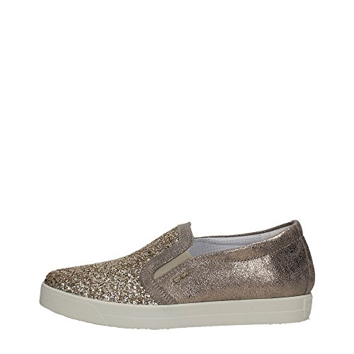 7790 Nero Sneaker Scarpa Donna Slip-on Igi & Pelle Co Made In Italy Taupe