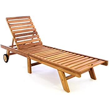 Gartenliege klappbar holz  Amazon.de: DIVERO Sonnenliege Gartenliege Relaxliege Liege aus ...