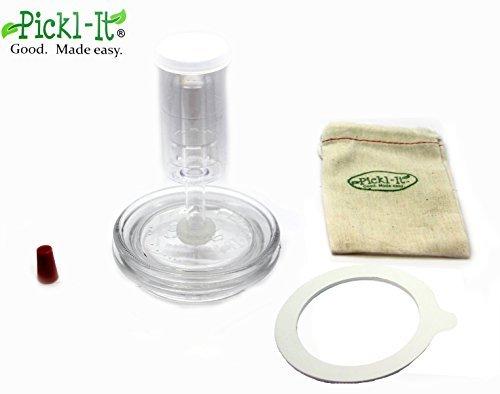 Pickl-It Original Fermentation Couvercle Kit Converti 'Fido' Pots Pour Anaérobie Décapage
