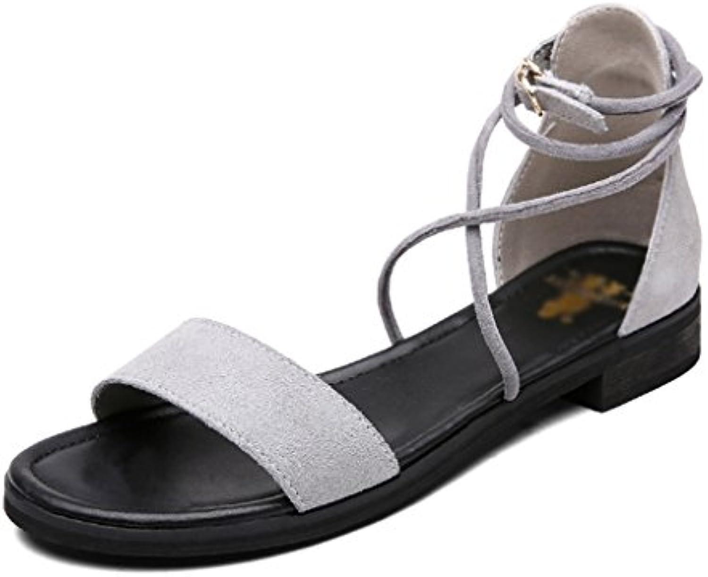 LGK&FA Zapatillas para mujer, lisas, parte inferior, antideslizantes y zapatillas de playa, gules, Forty-one