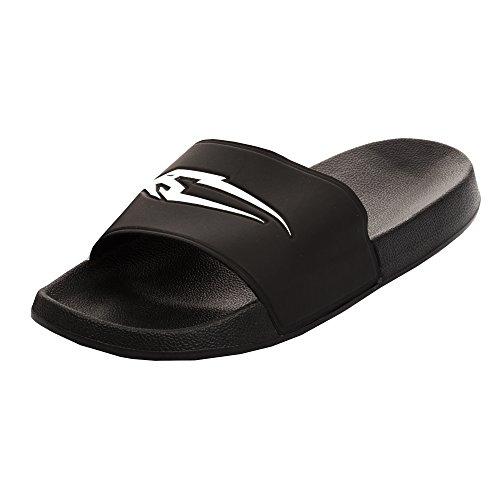 SMILODOX Bequeme Badeschuhe | Slipper Ideal für Strand, Gym & Freizeit | Badeschlappen mit Fester Sohle - Rutschfest - Perfekte Dämmung - Badelatschen, Farbe:Schwarz, Größe:41 EU