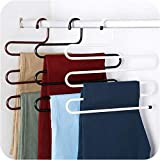Vachan Creation 3 Layer Stainless Steel Pant Rack Hangers Set of 2 (Multicolour-VM38)