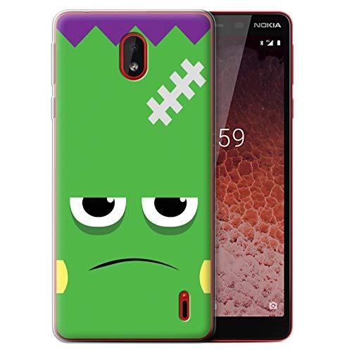 eSwish Gel TPU Hülle/Case für Nokia 1 Plus 2019 / Frankenstein Muster/Halloween Zeichen Kollektion (Halloween 2019 Frank)