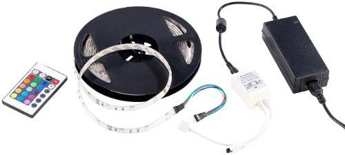 Lunartec Multicolor-LED-Streifen LC-500A.w, 5 m, IP68 m. Fernbedienung