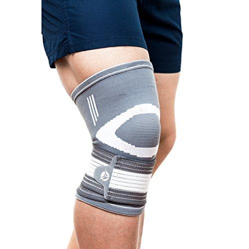 FITGENIX – Hochwertige kompressions Kniebandage inkl. Online Trainingsplan – Premium Knieschoner zur Unterstützung der Gelenke beim Sport und Alltag– fixierbar und schmerzlindernde Kniestütze