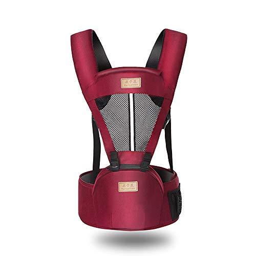 Baby 6-In-1 Ergonomische Baby-Hüft-Sitzhalterung, All-Saison-Soft-Carrier, Geeignet Für Individuelle Pflege Von 0-36 Monaten, Rot