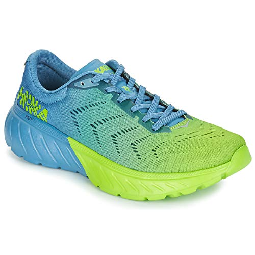 HOKA ONE One Mach 2 Deportivas Hombres Storm Blue Lime Green - 44 - Running/Trail