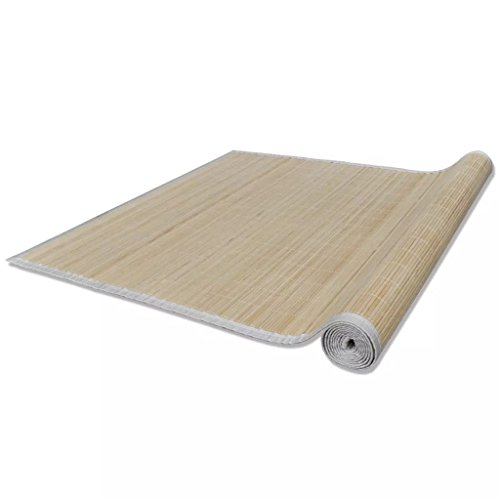 Mewmewcat Alfombra bambú Natural PVC Antideslizante