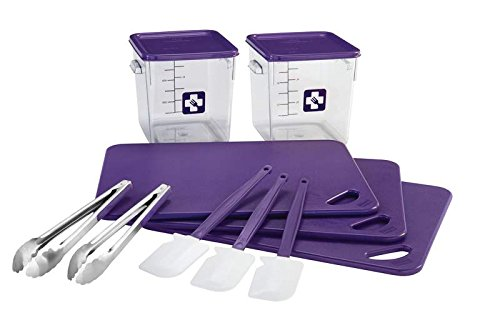 Rubbermaid Commercial colour-Coded Food Service Allergen Starter Kit, Purple, 12 Piece