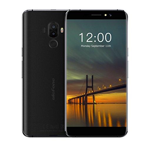 Ulefone S8 Pro 4G Smartphone Débloqué, Android 7.0, Triple Caméra 13MP+5MP+5MP, Écran 5,3 Pouces HD IPS, Quad-core MT6737, Double SIM, 2 Go RAM+16 Go ROM, Batterie 3000mAh, Empreinte Digitale Téléphone Portable (Noir)