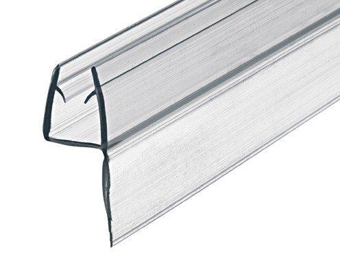 GedoTec Glastür-Dichtung Dusche Wand-Dichtung für Duschkabinen | Dusch-Türdichtung Länge 2000 mm | PVC Transparent | Duschdichtung für Glasdicke 8 - 10 mm | Markenqualität für Ihren Wohnbereich