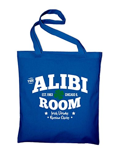 The Alibi Room Bar Frank Gallagher Fan Logo TV Serie Jute Jutebeutel, Beutel, Stoffbeutel, Baumwolltasche Royalblau