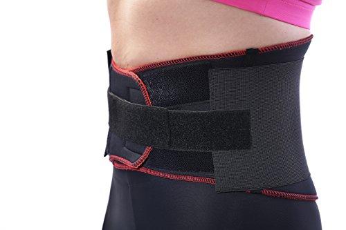 TSM Sportbandage Rückenbandage Pro mit fixierbarem Stabilisierungsgurt, XL, 3713