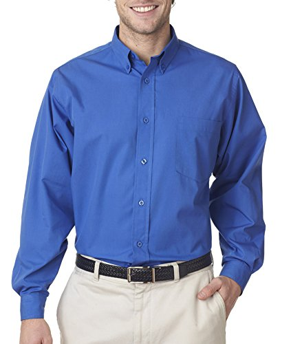 8355 da uomo easy-care BROADCLOTH Button Down Camicia French Blue