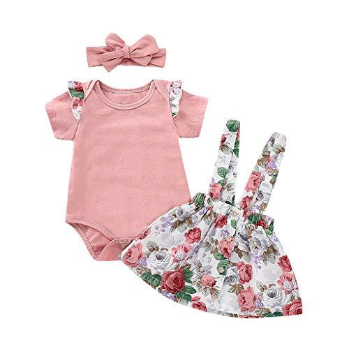 Conjuntos Verano ReciéN Nacido Niña POLP Tops Mameluco Bebe y Pantalones Cortos Traje de Falda Bebe...