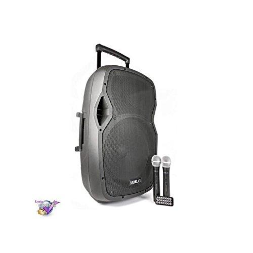 Vexus AP1500PA Bafle Portatil 15' / 2 micrófonos de mano inalámbricos USB / bluetooth