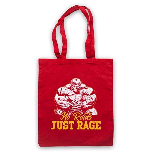 No Roids Just Rage Bodybuilding Culture Slogan Umhangetaschen Rot
