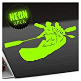 Kiwistar Kajak - Kanus - Doppelpaddel Aufkleber Sticker 25 Farben Neon Matt