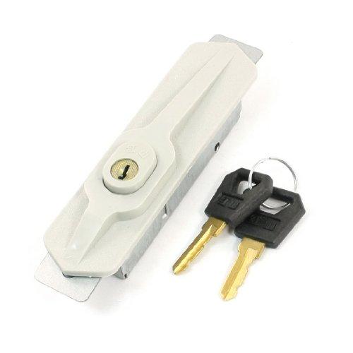 sourcingmap® Möbel Schrank Tür Zubehörteile Metall Schloß Beige mit 2 Schlüssel Plastik de