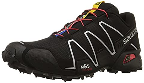 Salomon Speedcross 3 Herren Traillaufschuhe, Schwarz (Black/Black/Silver Metallic-X), 42 2/3