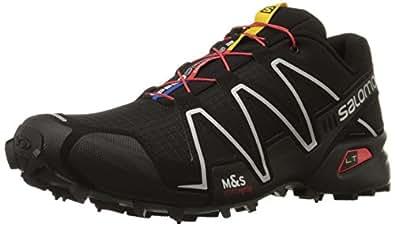 Salomon Men's Speedcross 3 Trail Running Shoe Black / Black / Silver Metallic-X 7 D(M) US