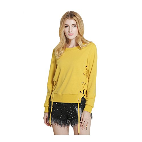 Polly Online - Sweat-shirt - Body chemise - Manches Longues - Femme Jaune