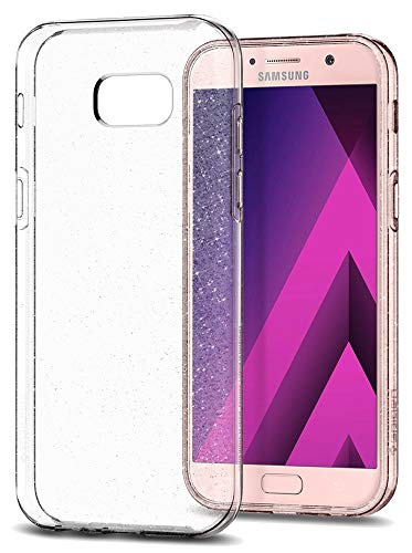Spigen Samsung Galaxy A5 2017 Hülle, [Liquid Crystal Glitter] Glitzern Silikon [Crystal Quartz] Transparent Ultra Dünn Schlank Bumper-Style Handyhülle Premium Kratzfest TPU Durchsichtige Schutzhülle