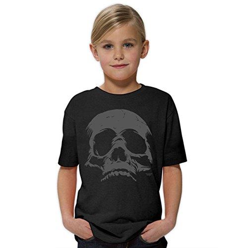 loween Kinder-Fun-Kostüm-T-Shirt Totenkopf Mädchen Teenager Party-Outfit-Bekleidung tolles Geschenk Farbe: schwarz Gr: 122/128 (Skull Girl Kostüm)
