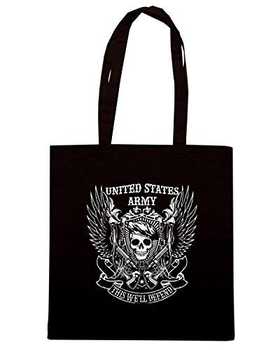 T-Shirtshock - Borsa Shopping TM0658 united states army Nero
