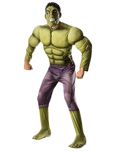 Hulk Deluxe Kostüm, Herren Avengers Age of Ultron Outfit, Standard, Brust 111,8cm Taille 76,2–86,4cm Hosenlänge ()