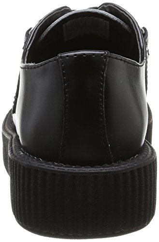 T.U.K. Low Sole Round Creeper, Damen Sneaker Schwarz - Schwarz