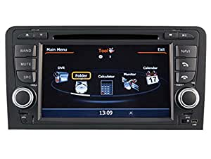 AudioCarSystem AUDI A3 / S3 / RS3 (2003-2012) - Installation OEM voiture - écran tactile lecteur DVD radio MP3 USB SD MPE4 MPEG2- navigation GPS 3D - TV iPod USB - Bluetooth mains libres +++ garantie AudioCarSystem+++