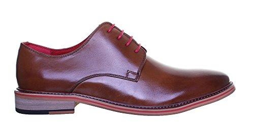 Justin Reece , Chaussures de ville à lacets pour homme Marron - marron