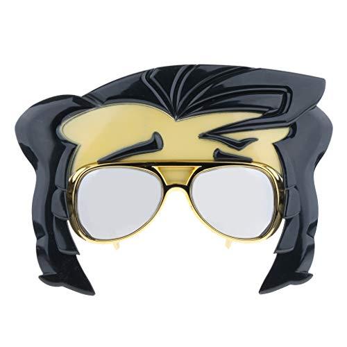 P Prettyia Halloween Kostüm Herren Damen Disco Elvis King Brille Partybrille Spaßbrille Karneval Fasching Verkleidungsparty Dress Up