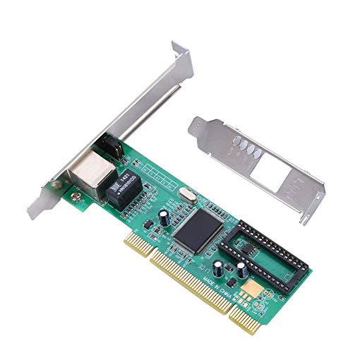 Bewinner Adaptador PCI Express Tarjeta de Red Inalámbrica,PCI Realtek 8169 con Puerto Gigabit Ethernet 10/100/1000 Mbps para Computadoras de Escritorio Windows 7/8/10 / Linux