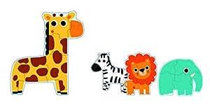 Djeco - DJ07135 - Puzzle - Primo Puzzle dans la Jungle
