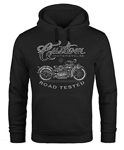 Hoodie Herren Motorrad Biker Kapuzenpullover Männer Neverless® Custom Motorcycles schwarz