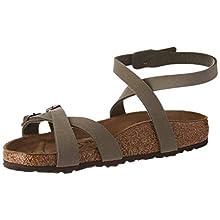 Birkenstock Sandales Blanca Birko-flor® Nubuck Stone, Women's Sandal, Stone, 5.5 UK (39 EU)