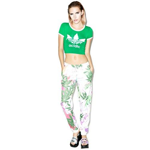 BOMOVO Damen Neu Fashion Schlank Kurzärmelig Rundausschnitt Halbteil SchlachtenbummlerKurz T-Shirt Grün