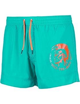 Diesel Pantalones Cortos de Natación Hombres, Nadador BMBX-Sandy, Logotipo Mohawk con Inserción de Malla: Colour...