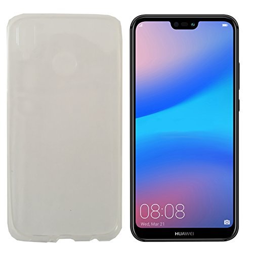 MOELECTRONIX TPU TRANSPARENT Silikon Schutzhülle Soft Case Tasche Hülle für Huawei P20 Lite Dual SIM ANE-L21