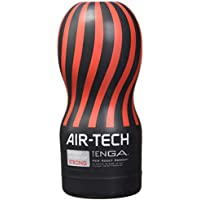 Tenga Air Tech Strong, Funda Masturbadora, 6.9 × 15.5 x 6.9 cm, Color Rojo/Negro - 235 gr