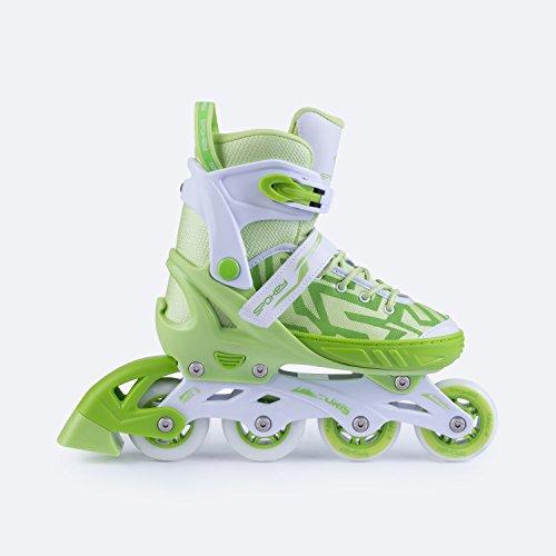 SPOKEY® TURIS Inline Skates | Größenverstellbar | Kinder | Damen | Herren | Inliner | Inline Blades | ABEC 5 Karbon | Größen 33-36 / 37-40 / 40-43