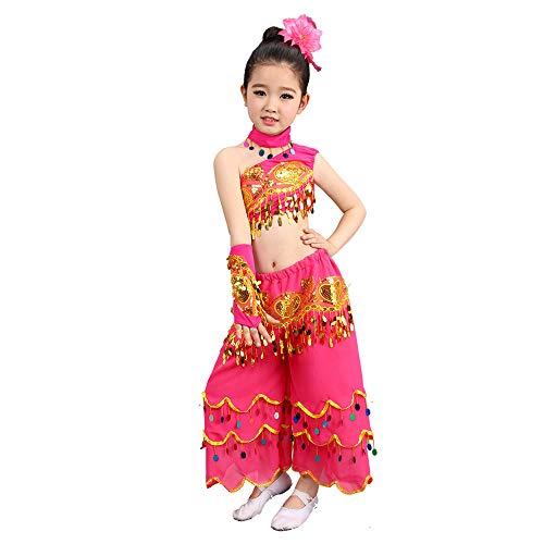 Tanz Kostüm - Fischschwanz Rock Stretch Peacock Dance Girl Performance Kostüm (Farbe : Pink, größe : ()